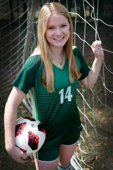 Lincoln senior forward McIver Levy is the 2019 All-Big Bend Player of the Year in girls soccer after compiling 31 goals and 18 assists during the Trojans' 19-win season. Levy's 80 points were second-most in Lincoln history.