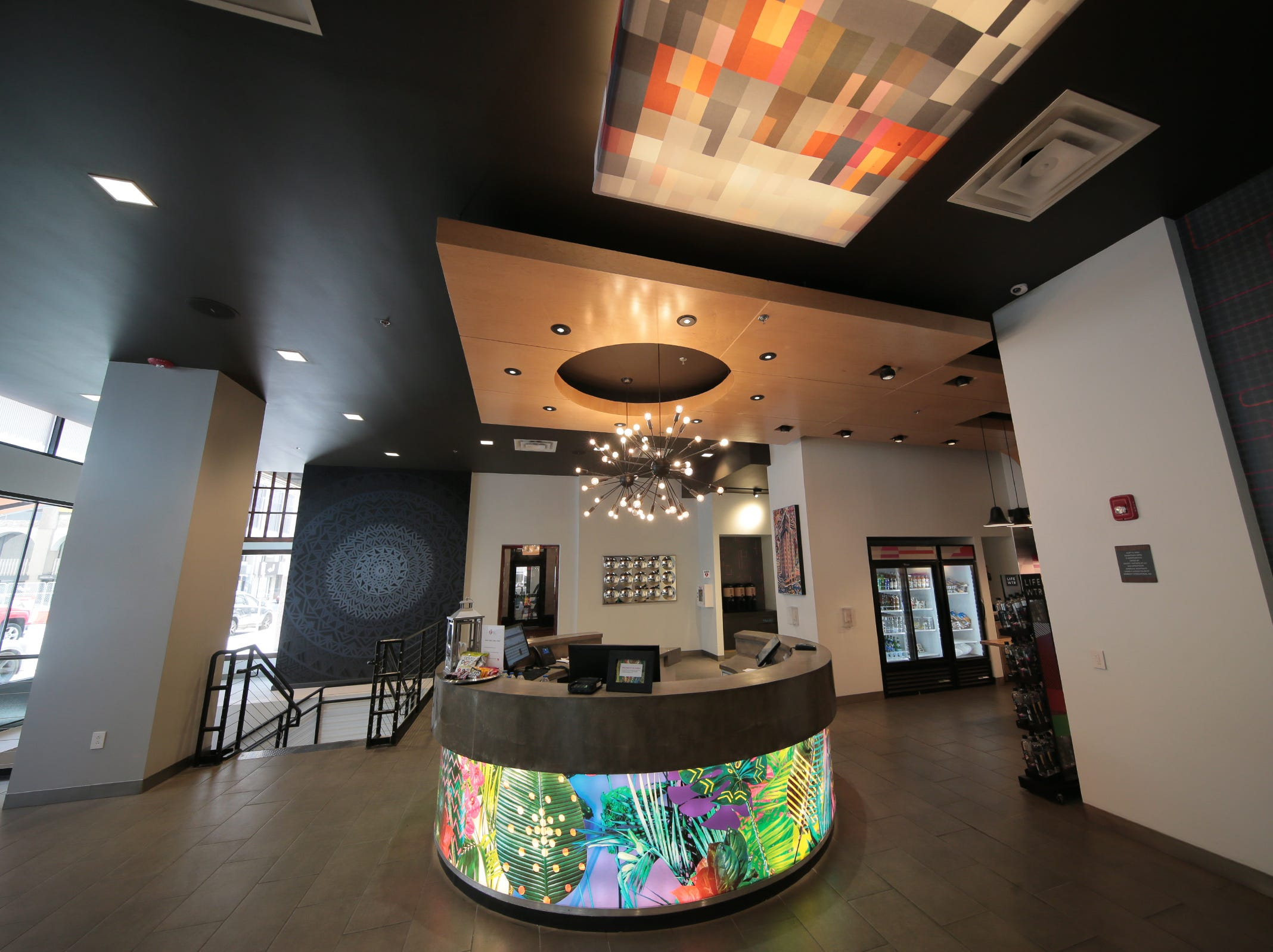 The lobby of the Stanton House boutique hotel in Downtown El Paso is shown.
