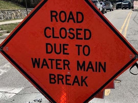 A water main break has closed a section of Route 202 in Haverstraw.