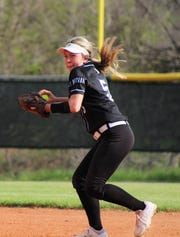 Presley Maples prepares to throw the ball for City View in their 6-2 victory over Henrietta.