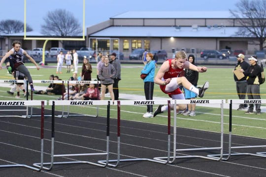 Electra's Bobby Doss, shown last month competing in Seymour, won the 9-2A 110 and 300 hurdles Thursday.