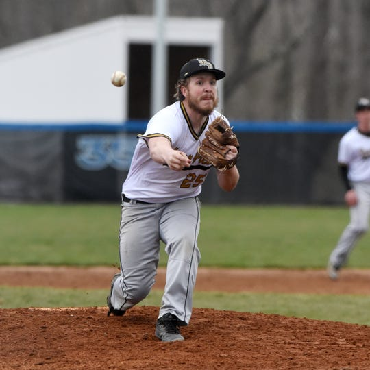 River View's Aaron Elliott fires a pitch against Zanesville.