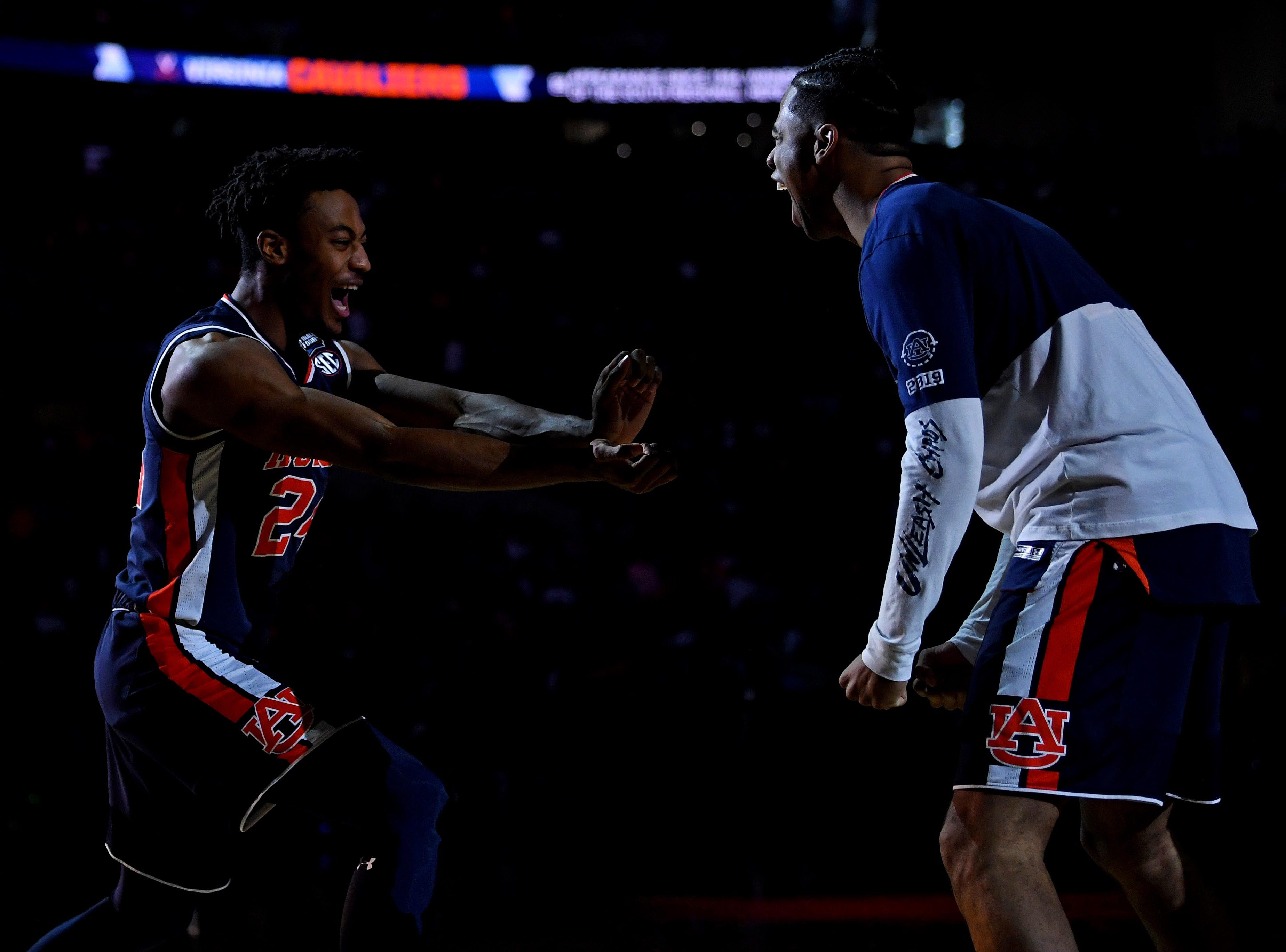 Auburn Tigers forward Anfernee McLemore (24) is introduced before the game against the Virginia Cavaliers.