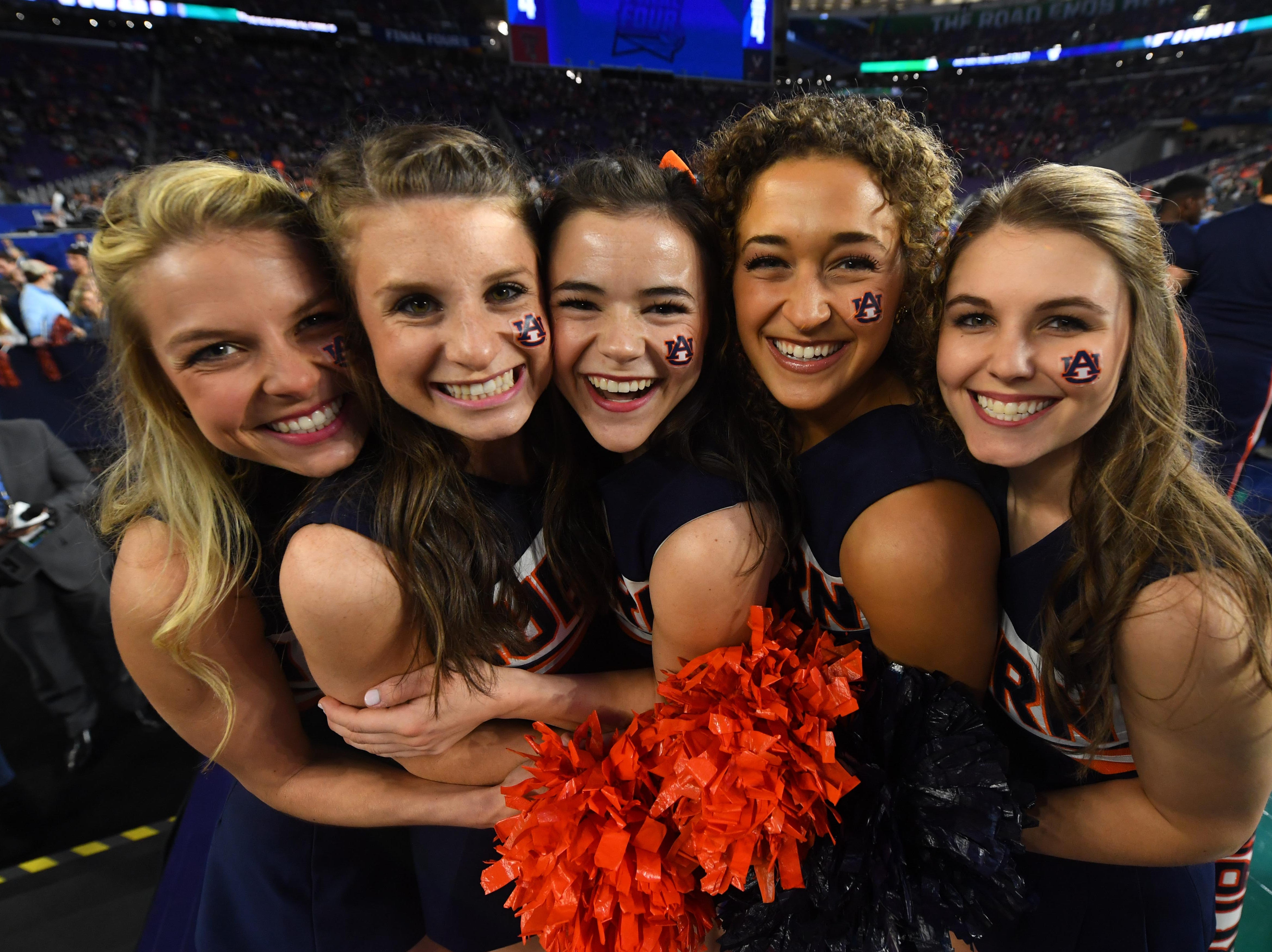 Final Four: Auburn Tigers fans cheers before the game against the Virginia Cavaliers.