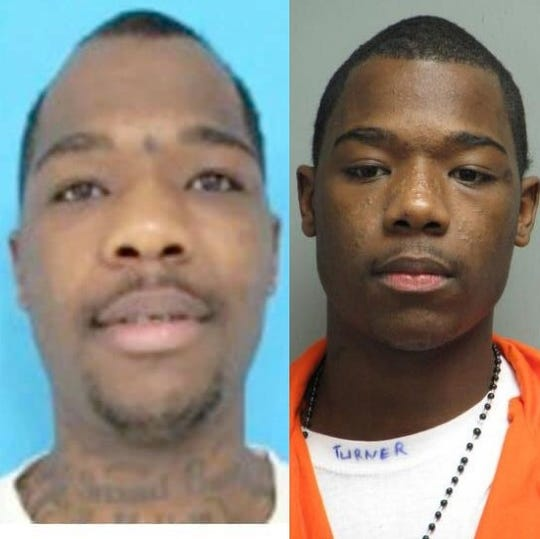 Roderick Deon Turner (left, from handout photo; right, from 2011 jail booking photo)