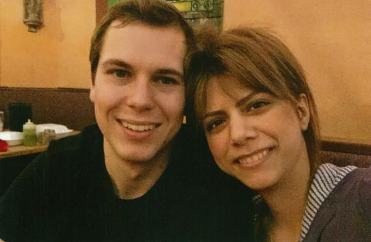 Brian Swank and fiance Mehraneh are shown in this undated photograph. They have been separated as a result of a national travel ban that means Mehraneh, who is Iranian, cannot return to the United States.
