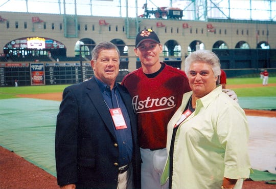 Mike and Phyllis Sheppard with Craig Biggio