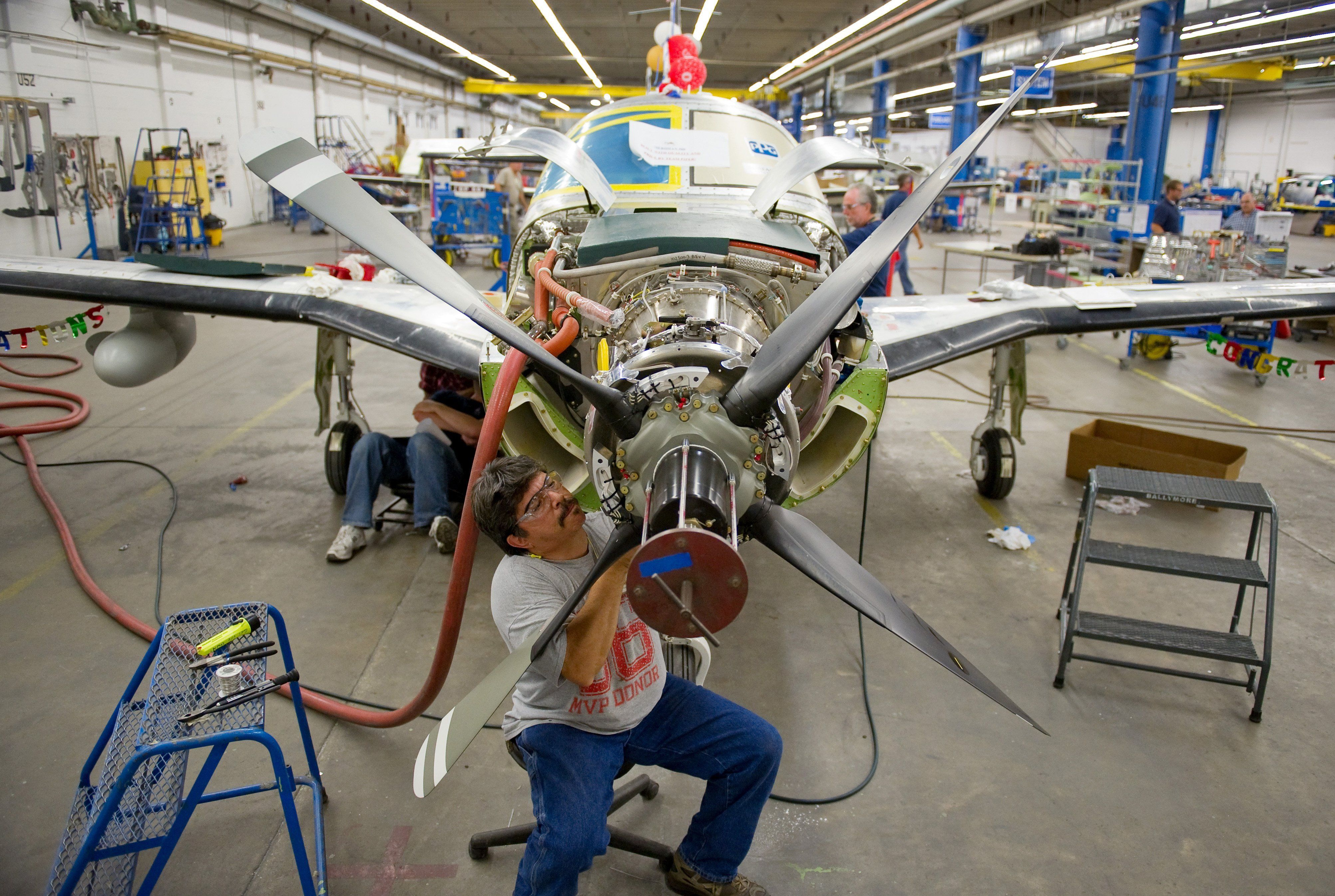 In this 2012 file photo, a Piper Aircraft. is on the final assembly line at the Vero Beach-based aircraft manufacturer.
