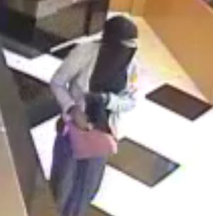 Police are seeking a man who robbed a Haddonfield bank while wearing a burka Saturday.