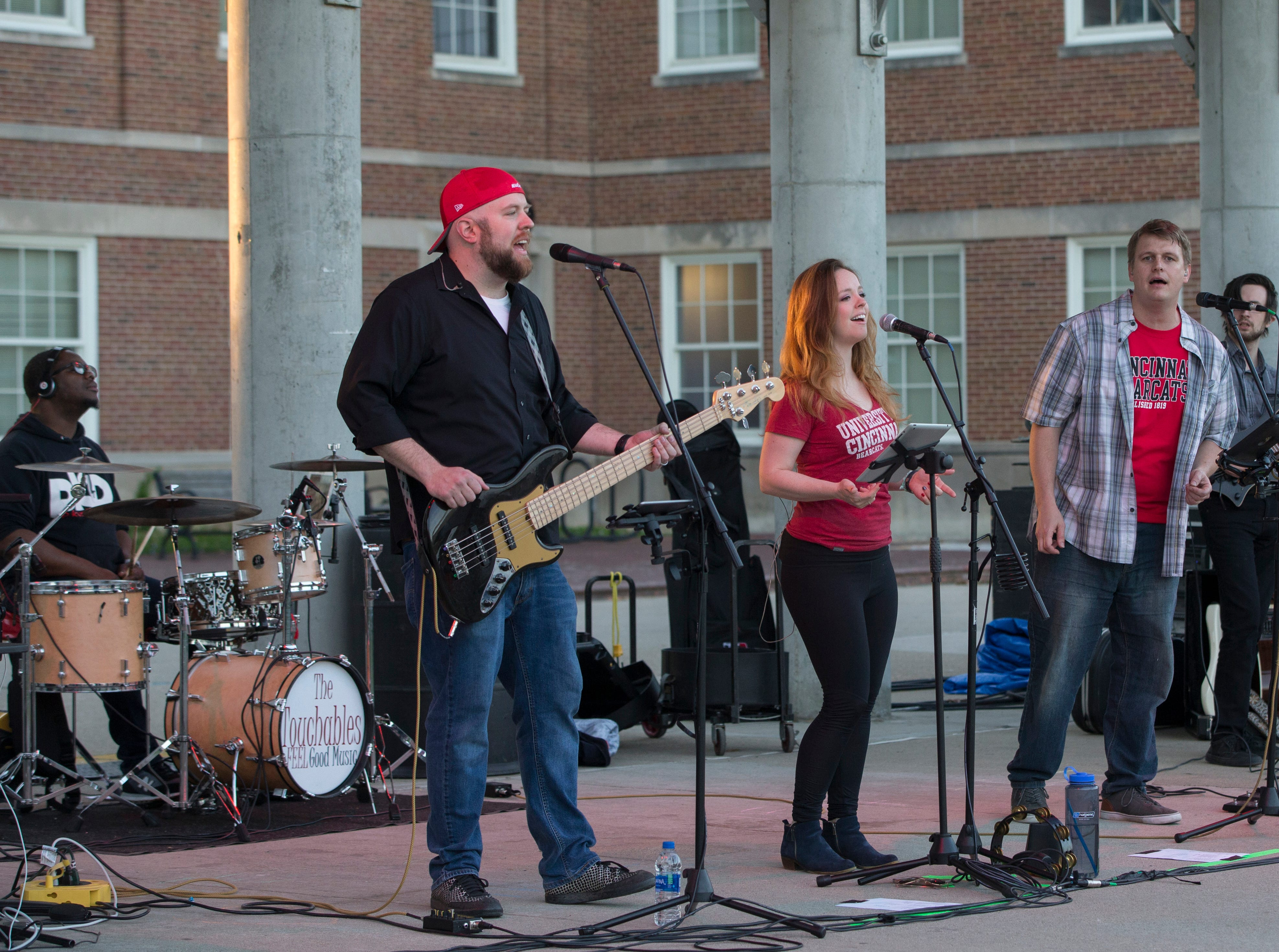 Local band The Touchables performed for the crowd during Community Day to celebrate UC's Bicentennial Saturday April 6, 2019. University of Cincinnati/Joseph Fuqua II
