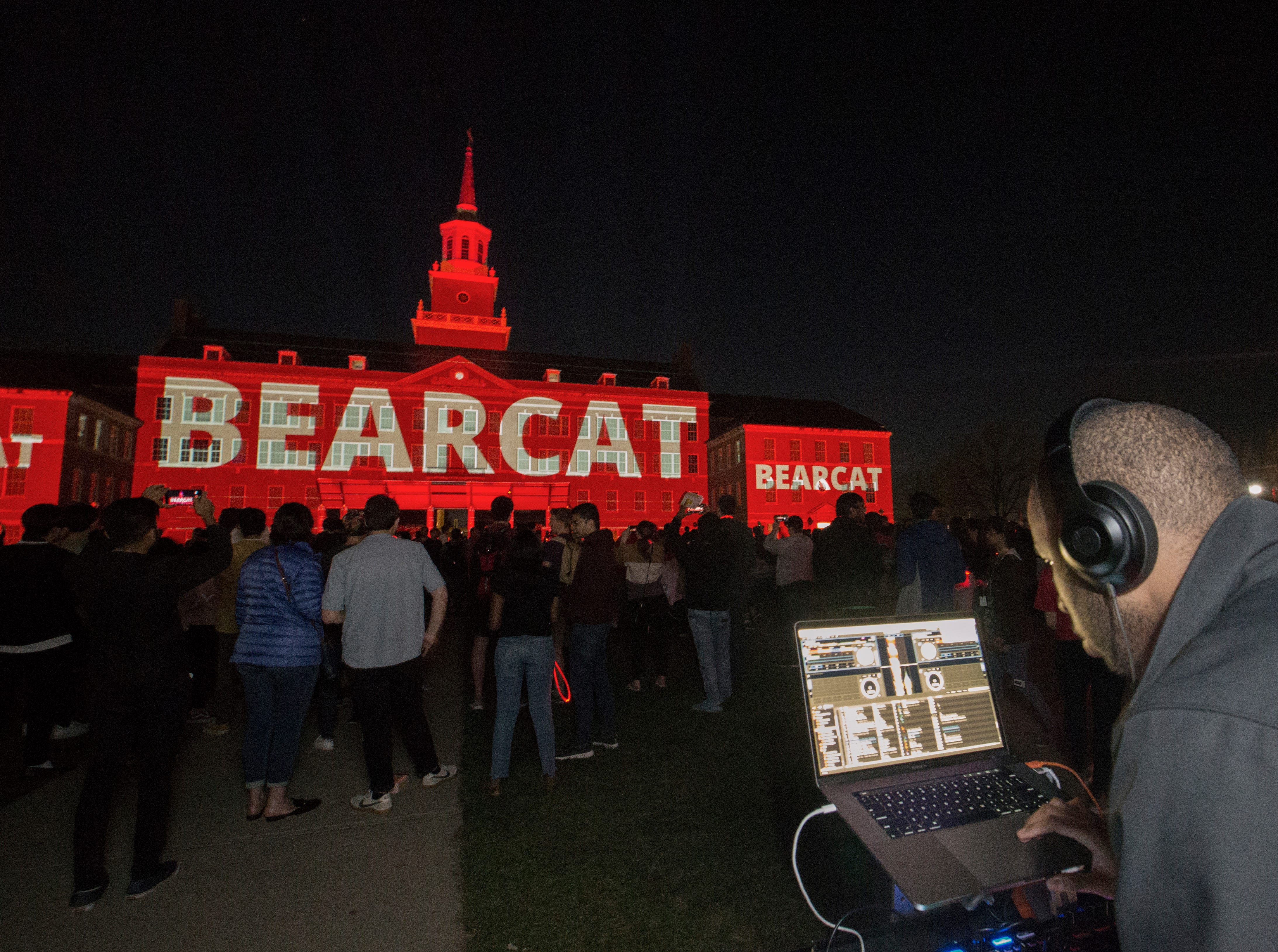 Deejay Hilliard performed during Community Day to celebrate UC's Bicentennial Saturday April 6, 2019 at McMicken Commons on the campus of the University of Cincinnati. University of Cincinnati/Joseph Fuqua II