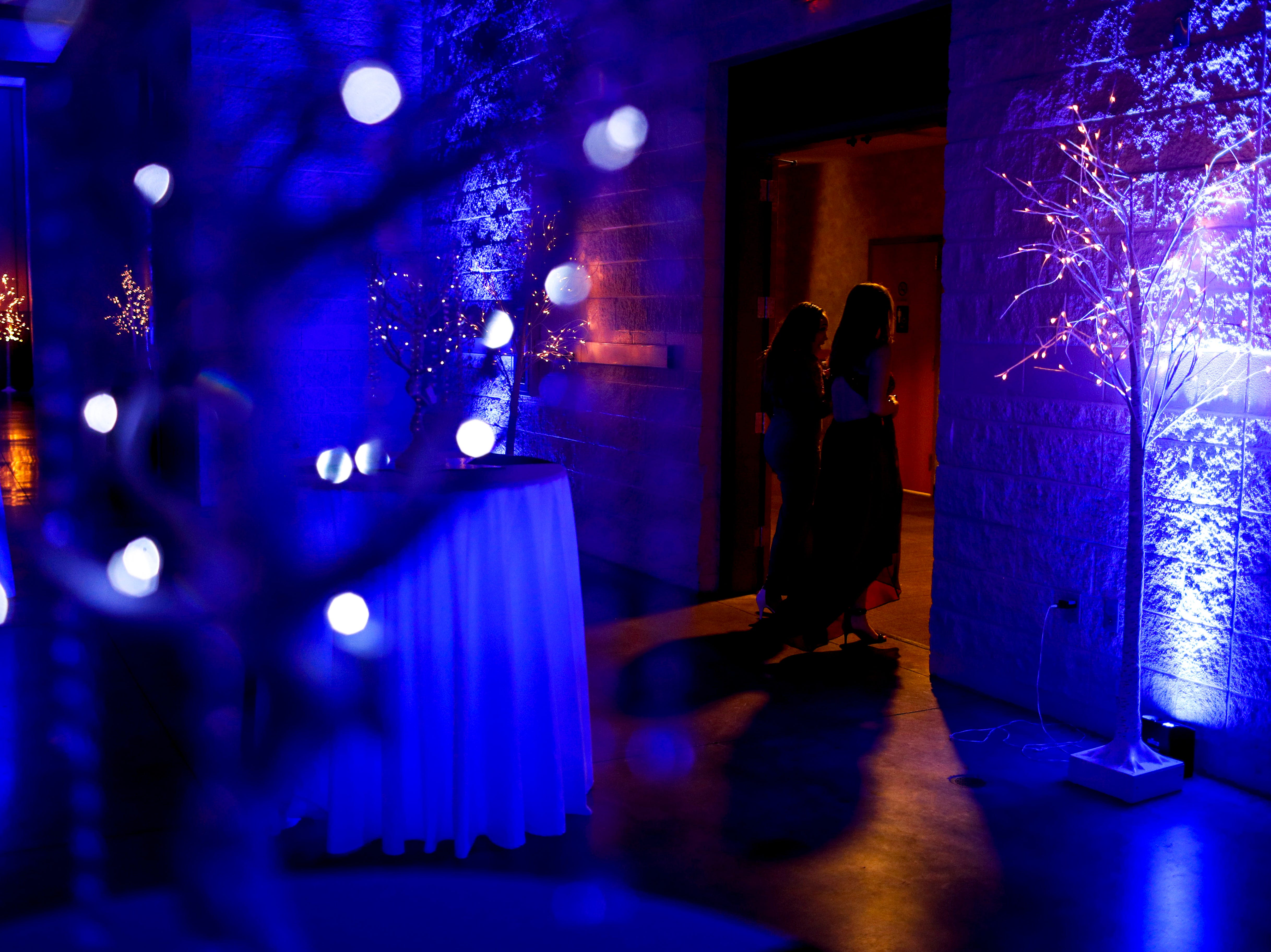 Students exit the hall during Clarksville Academy's 2019 prom at The Bruce Convention Center in Hopkinsville, Ky., on Saturday, April 6, 2019.