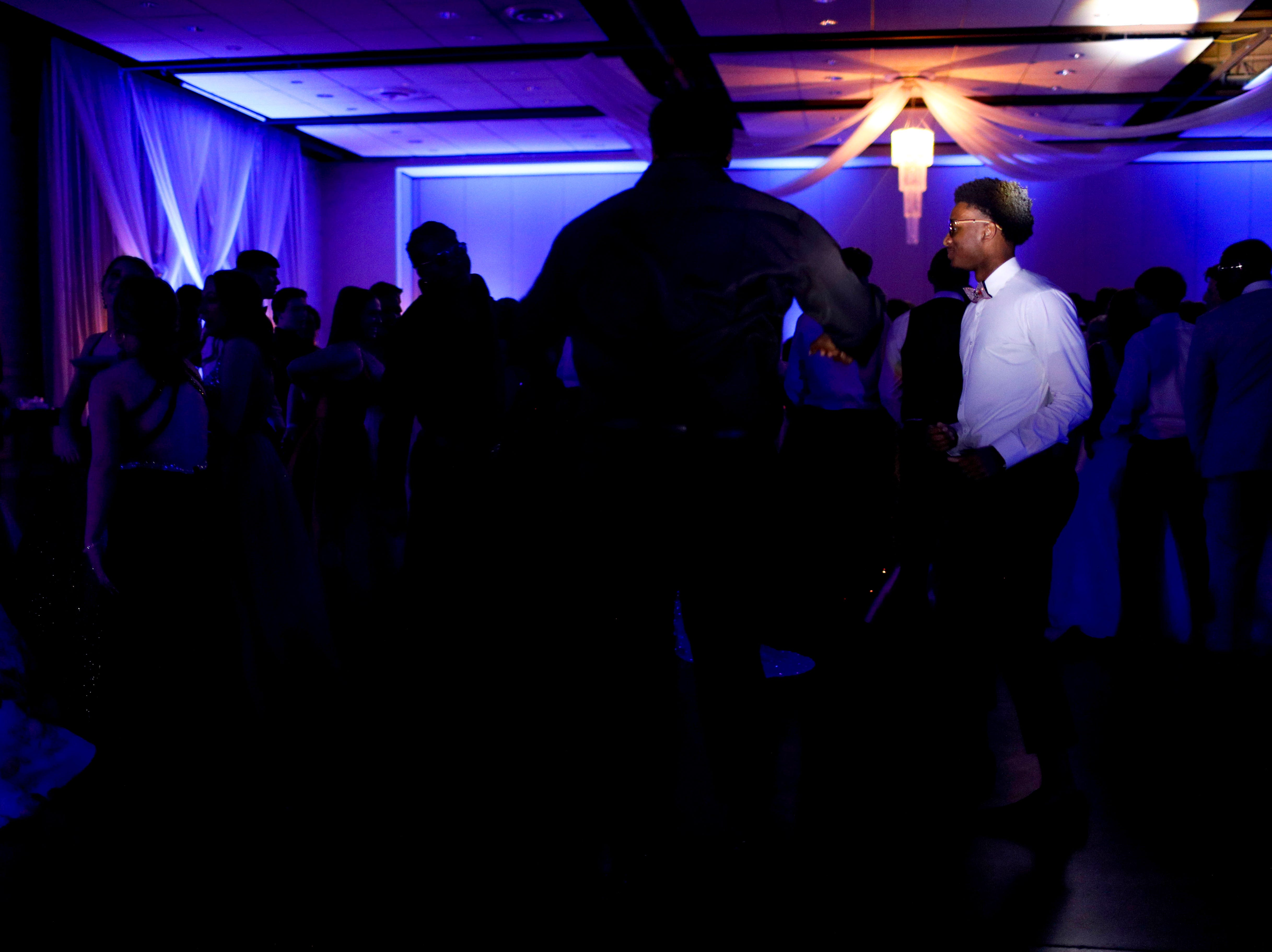 Students take to the dance floor during Clarksville Academy's 2019 prom at The Bruce Convention Center in Hopkinsville, Ky., on Saturday, April 6, 2019.