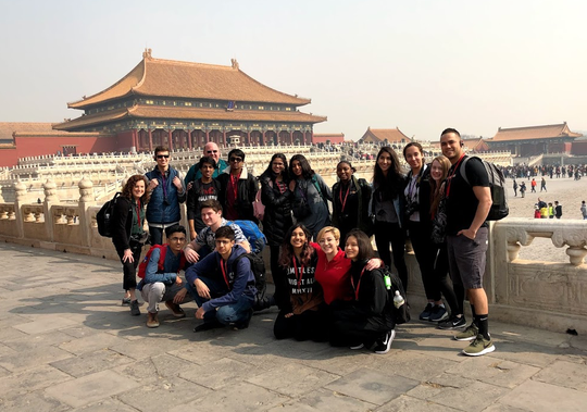Fifteen students and three chaperones from The Wardlaw+Hartridge School in Edison spent 12 days in China during Spring Break, visiting W+H sister school Shishi High School in Chengdu and sightseeing in Beijing and Shanghai.