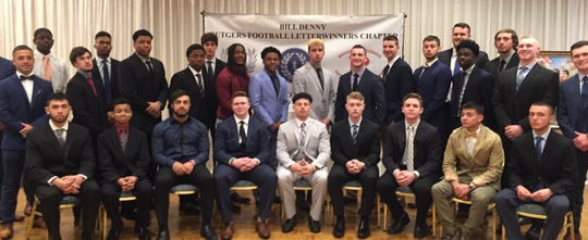 Football players were honored during Sunday's Billy Denny/Rutgers Football Letterwinners luncheon