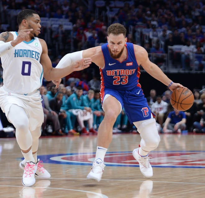 """Blake Griffin's medical update was """"encouraging"""" Monday, according to the Pistons."""