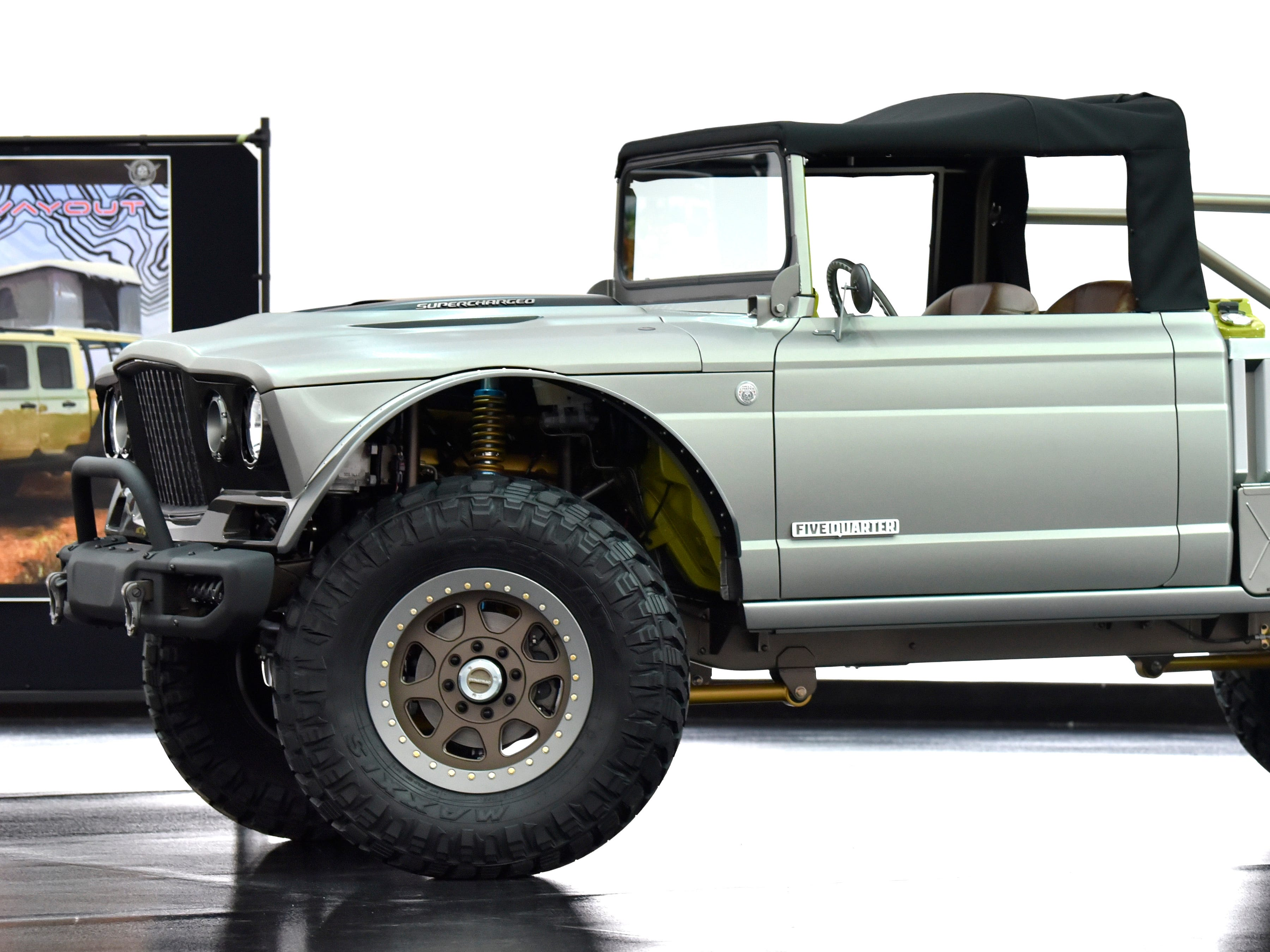 This is the Jeep M-715 Five-Quarter colored in Stainless Steel Wrap.