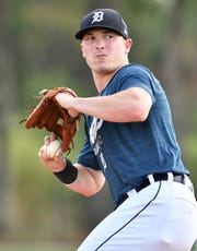 Tigers pitching prospect Beau Burrows struck out seven in four innings in his Triple-A debut.