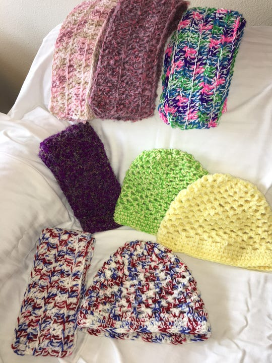 Since 2005, Drake has been crocheting hats and scarves.
