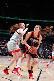 McDonalds High School All American center River Baldwin (13) will provide the Seminoles with physicality in the paint next season.