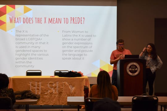 Presenters from HLSU, Pride and WSU shared insight into gender-neutral language.