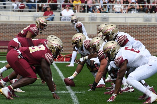 The Gold team defeat the Garnet team 27-21 during Saturday's Spring Game at Doak Campbell Stadium.