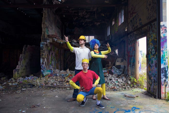 Performers Christian Douglas, Blake Lafita, and Hannah Corlew spearhead FSU's School of Theatre's latest zany production.