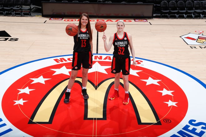 McDonalds All Americans River Baldwin (13) and Sammie Puisis (32) will look to provide an instantaneous spark to Florida State's lineup next season.