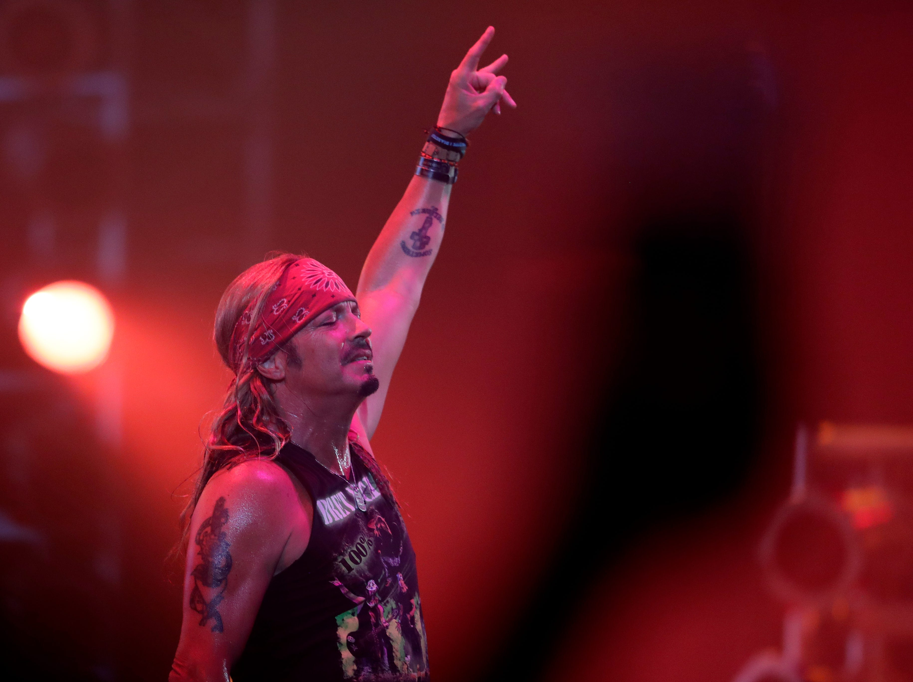 Bret Michaels performs in front of a sold-out crowd on April 6, 2019 during the last concert at Brown County Veterans Memorial Arena before the building is torn down.