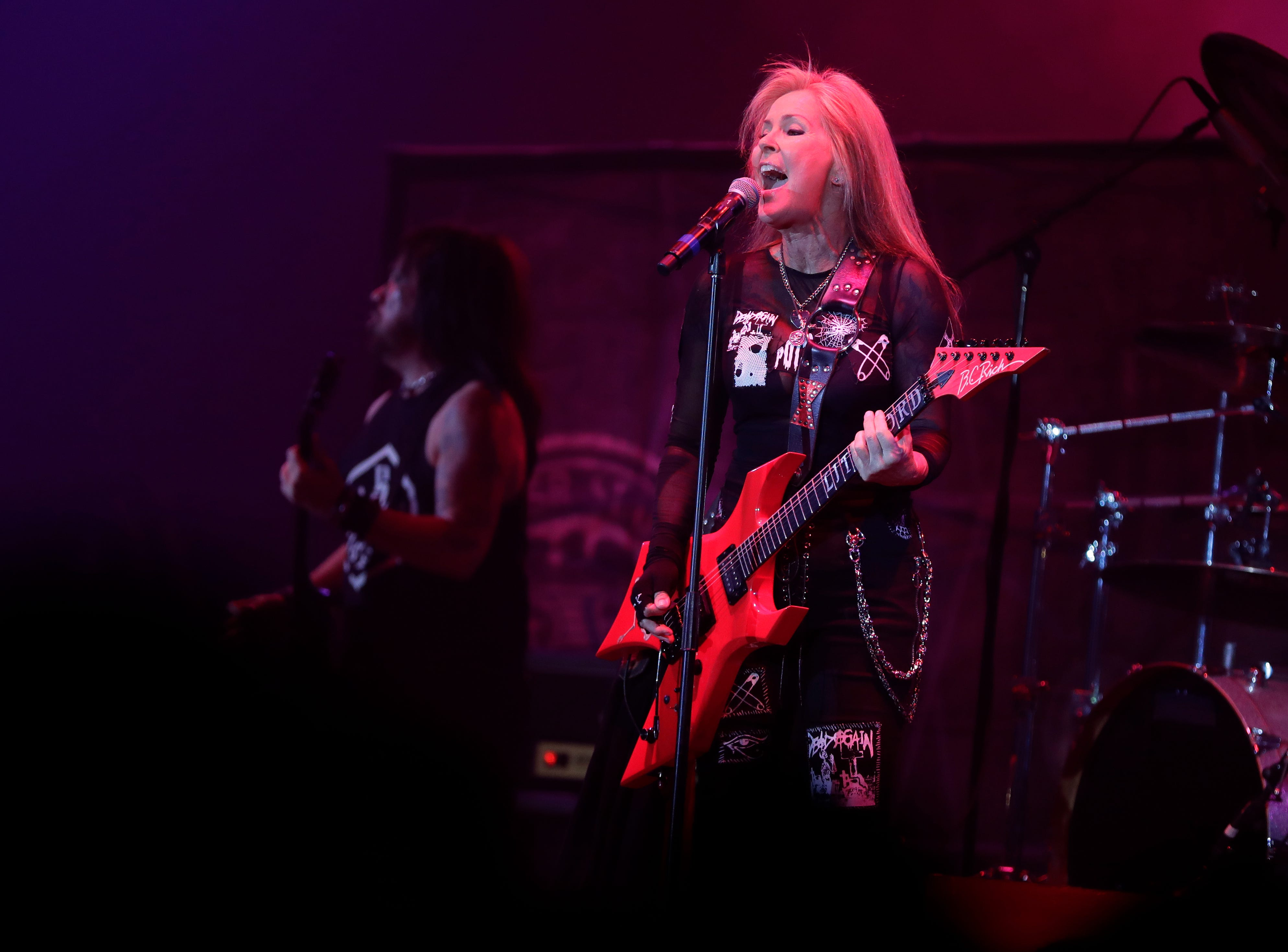 Lita Ford opens for Bret Michaels on April 6, 2019 during the last concert at Brown County Veterans Memorial Arena before the building is torn down.