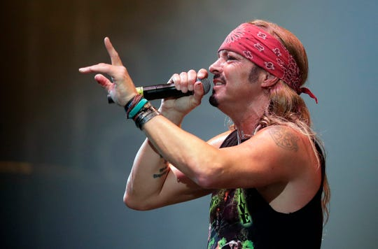 Bret Michaels performs in front of a sold-out crowd of 5,600 on Saturday night during the last concert at Brown County Veterans Memorial Arena before the building is torn down.