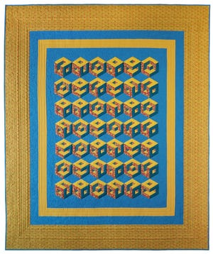 """""""Quilter's Blocks Cubed"""" is a quilt by Deirdre McConathy that will be part of a show in Paducah."""
