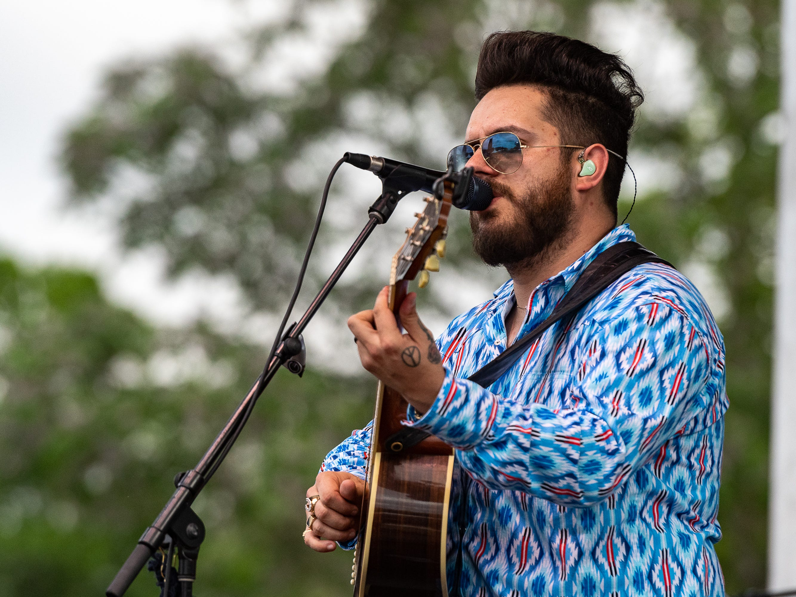 Dustin Sonnier performs at the Scott Boudin Festival. Saturday, April 6, 2019.