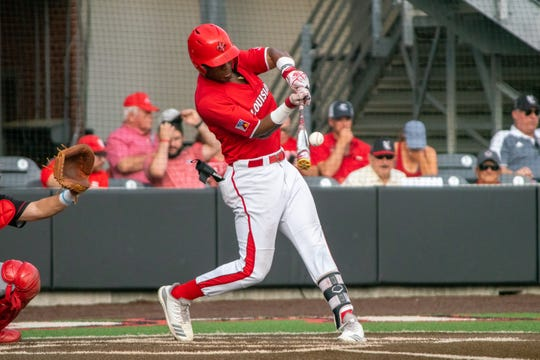 UL's Todd Lott connects against Arkansas State earlier this month. Lott is the Cajuns' top hitter this season.