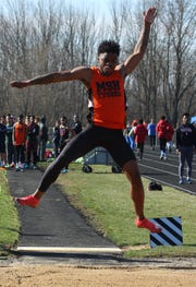 Mansfield Senior's Angelo Grose set a meet record in the long jump with a first place effort of 22-9 in Saturday's Lexington Invitational.