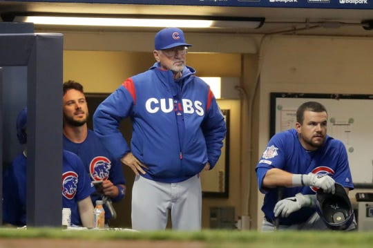 Cubs manager Joe Maddon called the Brewers' bluff Sunday.