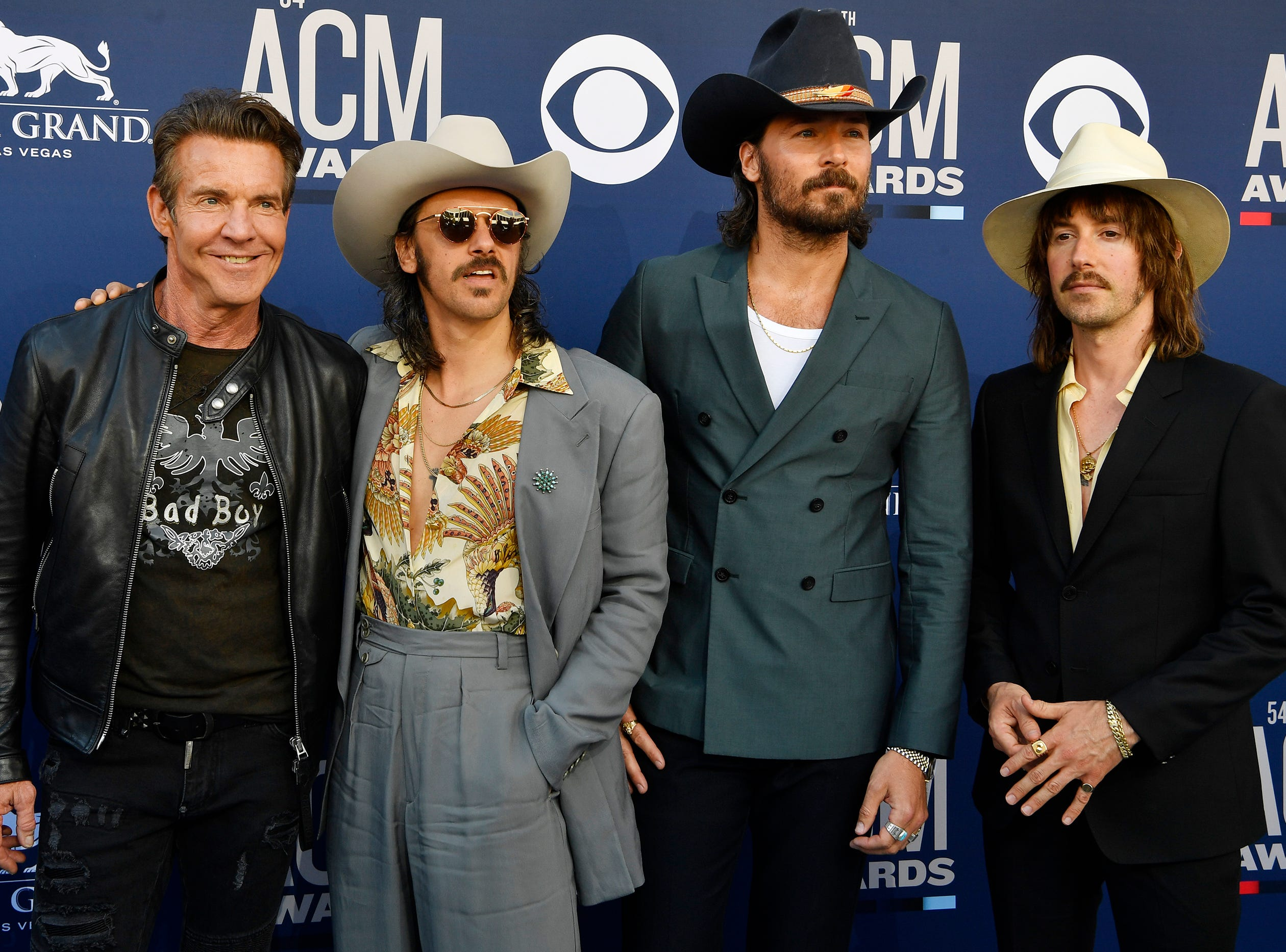 Midland walks the red carpet at the 54TH Academy of Country Music Awards Sunday, April 7, 2019, in Las Vegas, Nev.