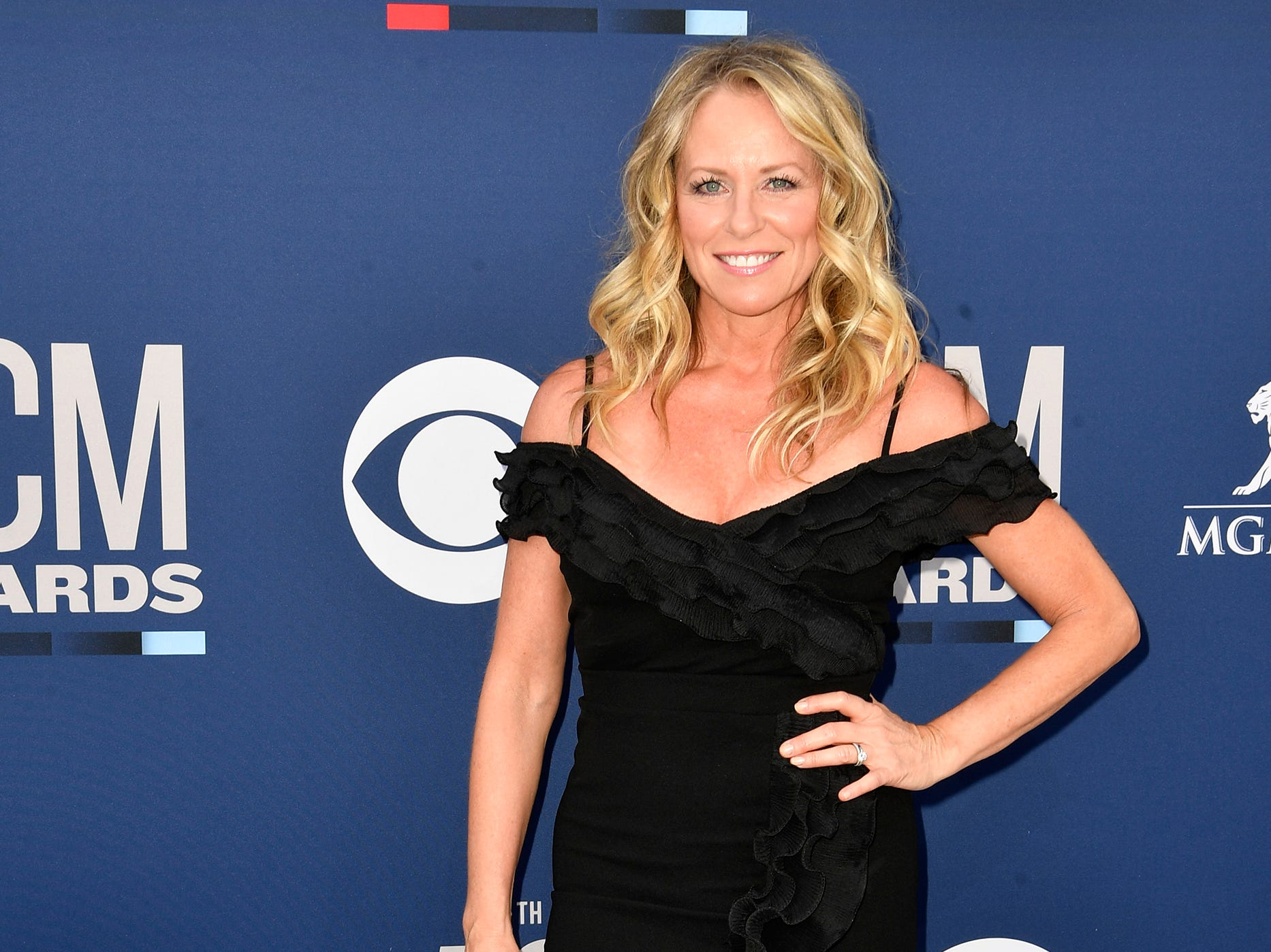 Deana Carter walks the red carpet at the 54TH Academy of Country Music Awards Sunday, April 7, 2019, in Las Vegas, Nev.