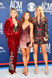 Runaway June walks the red carpet at the 54TH Academy of Country Music Awards Sunday, April 7, 2019, in Las Vegas, Nev.