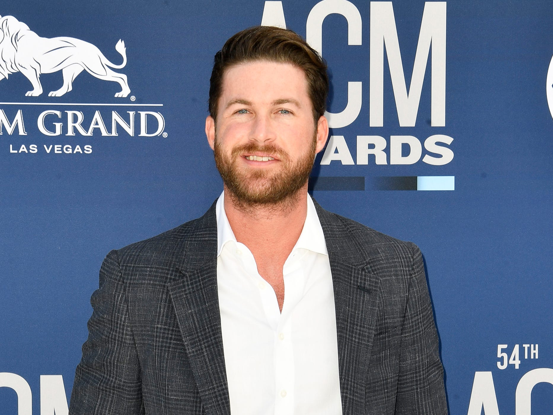 Riley Green walks the red carpet at the 54TH Academy of Country Music Awards Sunday, April 7, 2019, in Las Vegas, Nev.