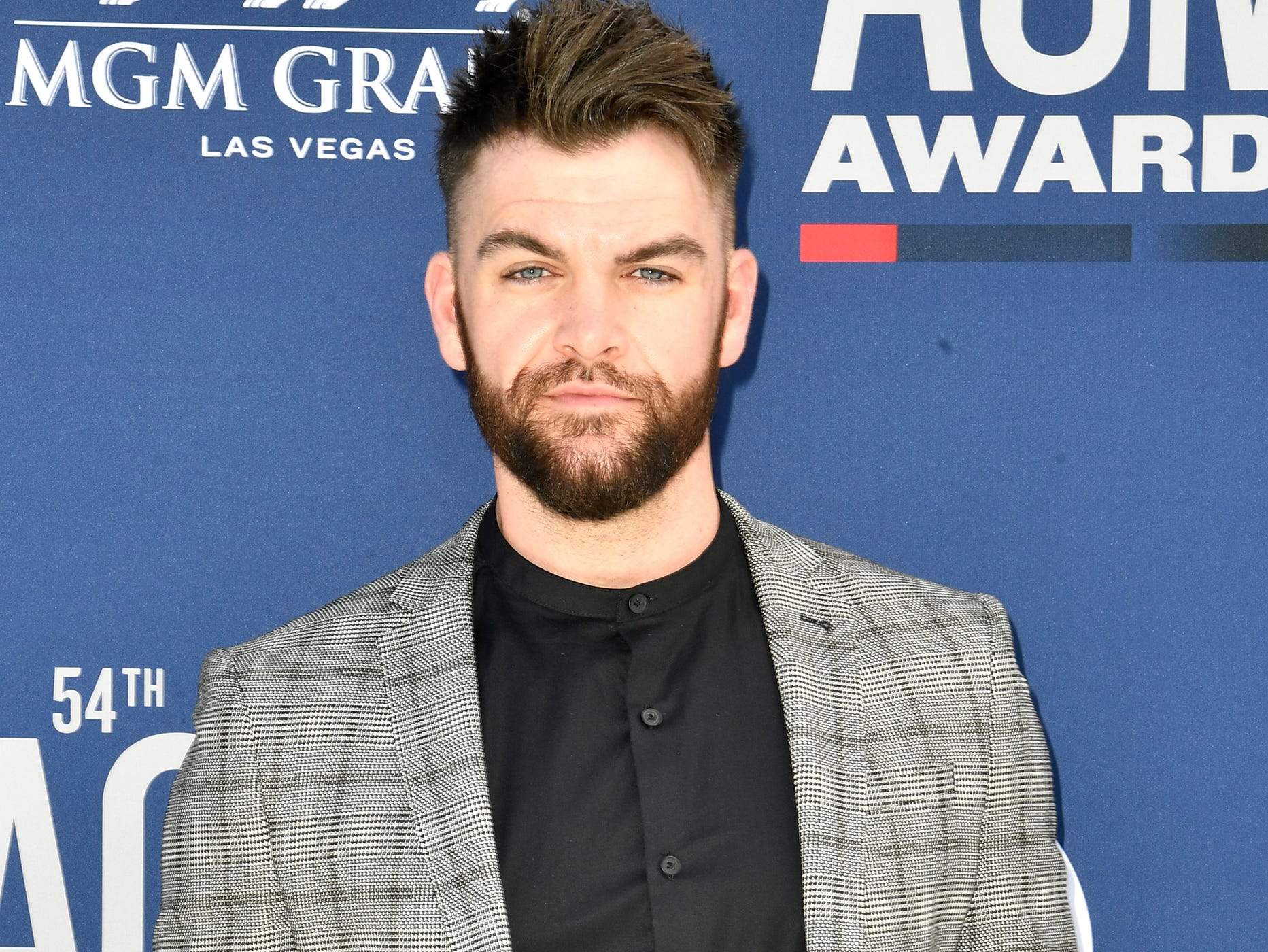 Dylan Scott walks the red carpet at the 54TH Academy of Country Music Awards Sunday, April 7, 2019, in Las Vegas, Nev.
