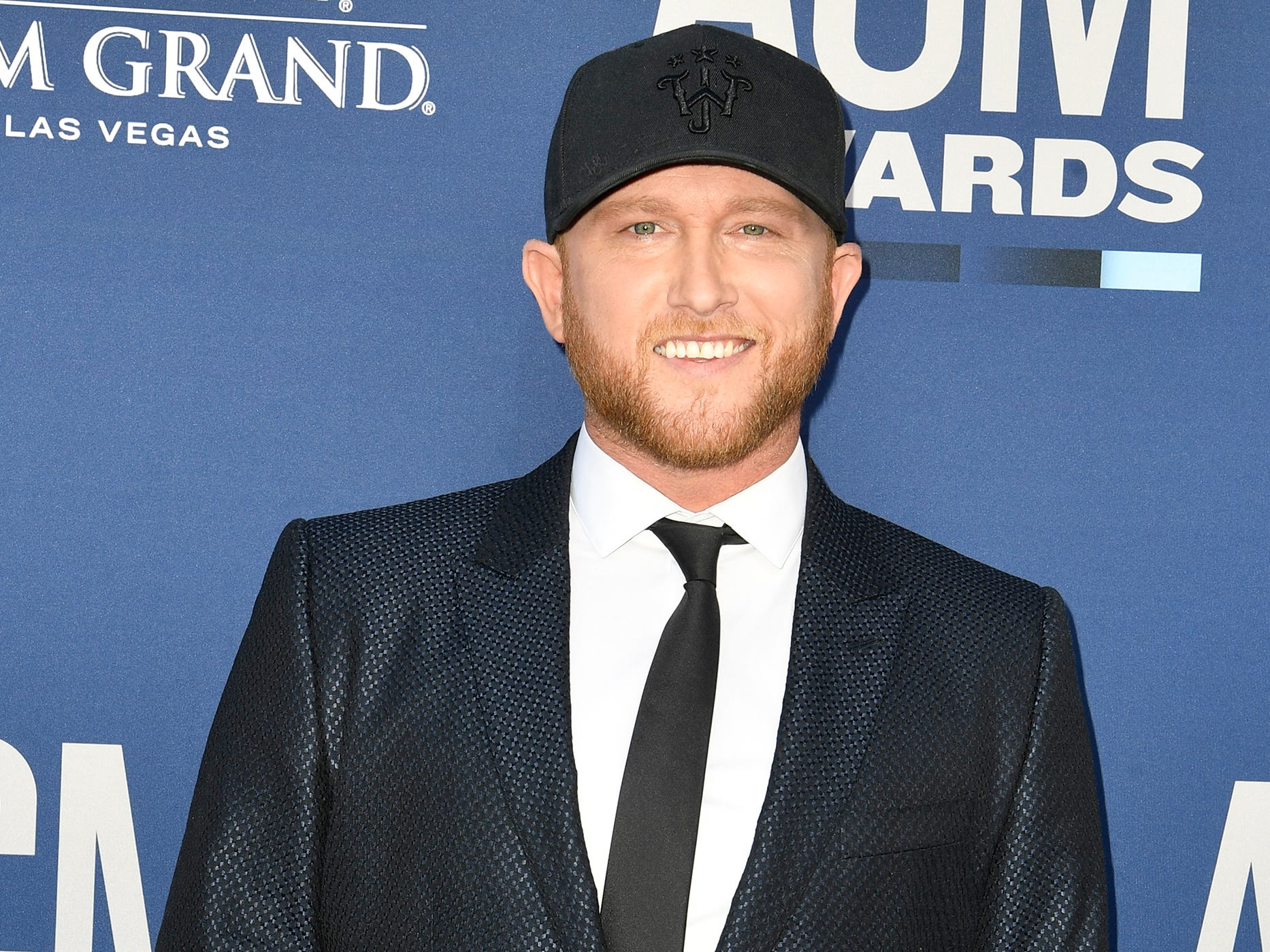 Cole Swindell walks the red carpet at the 54TH Academy of Country Music Awards Sunday, April 7, 2019, in Las Vegas, Nev.