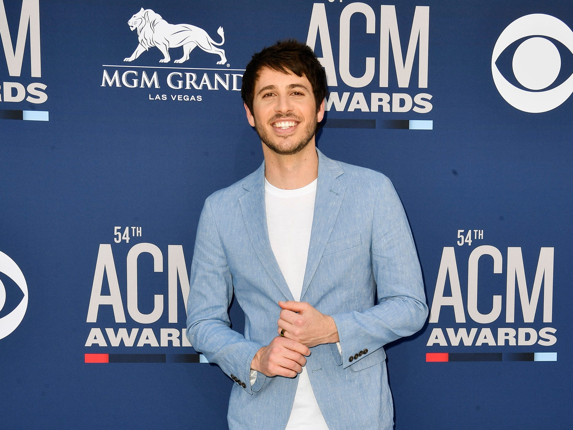 Morgan Evans walks the red carpet at the 54TH Academy of Country Music Awards Sunday, April 7, 2019, in Las Vegas, Nev.