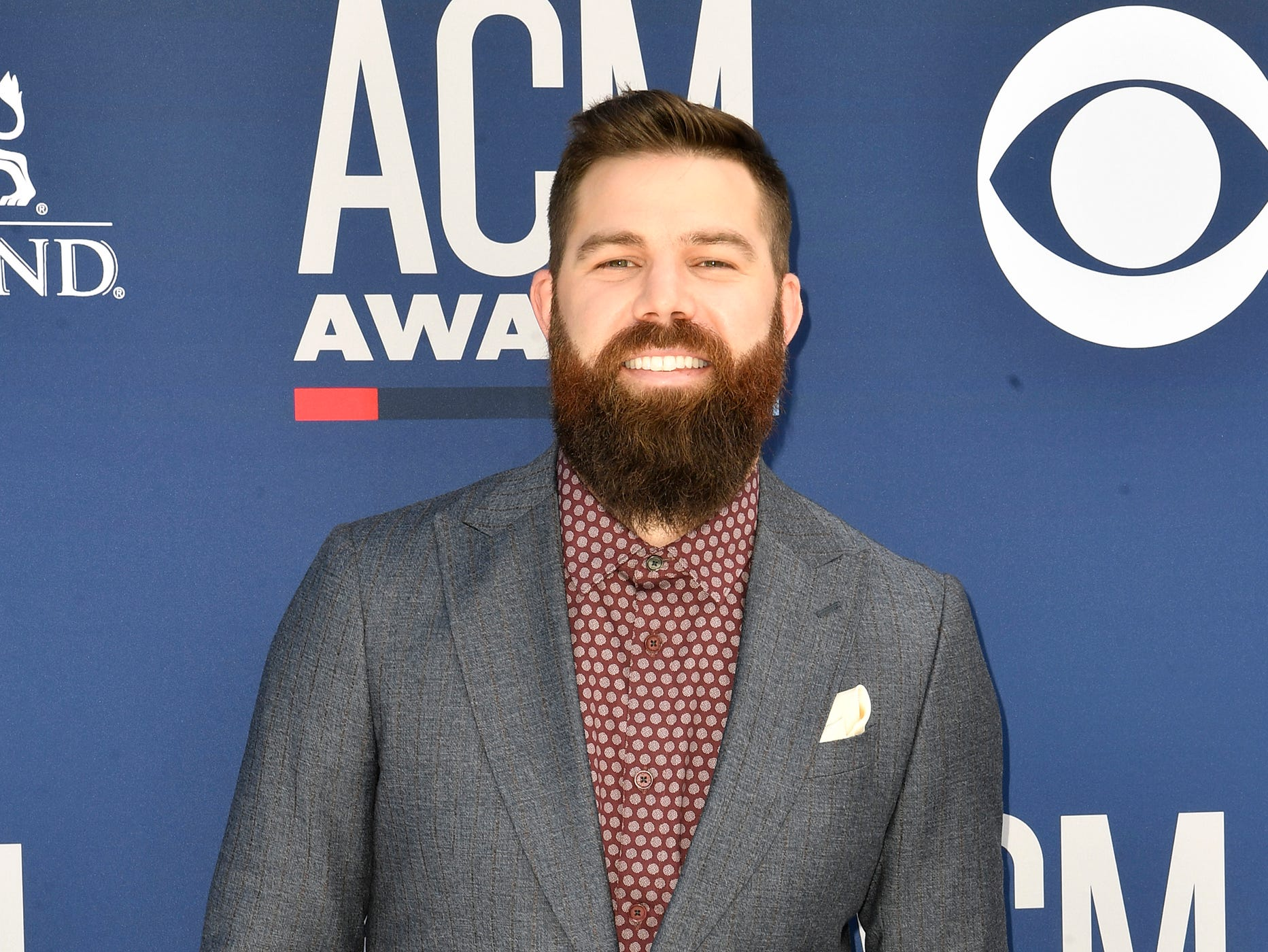 Jordan Davis walks the red carpet at the 54TH Academy of Country Music Awards Sunday, April 7, 2019, in Las Vegas, Nev.