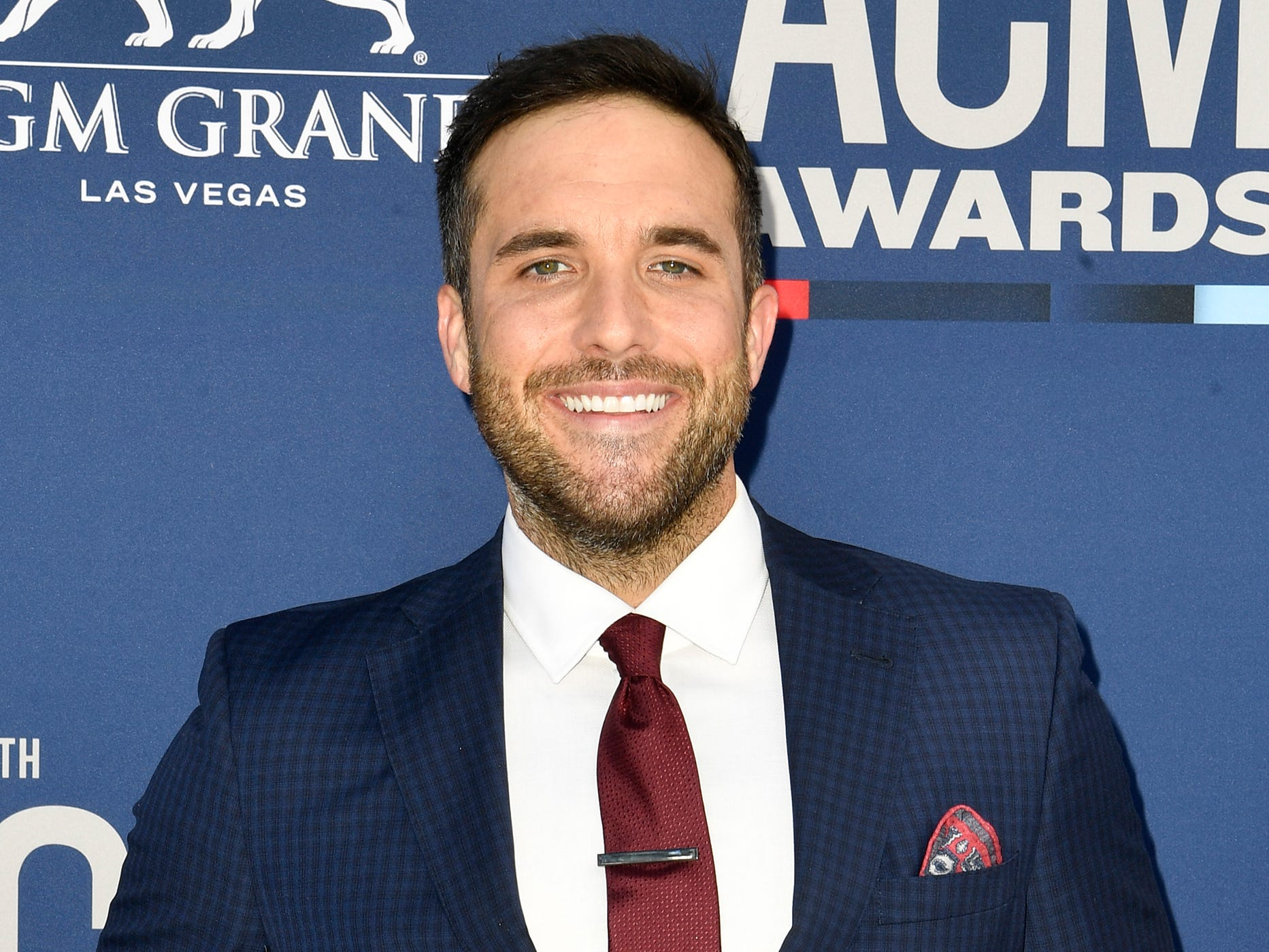 Tyler Rich walks the red carpet at the 54TH Academy of Country Music Awards Sunday, April 7, 2019, in Las Vegas, Nev.