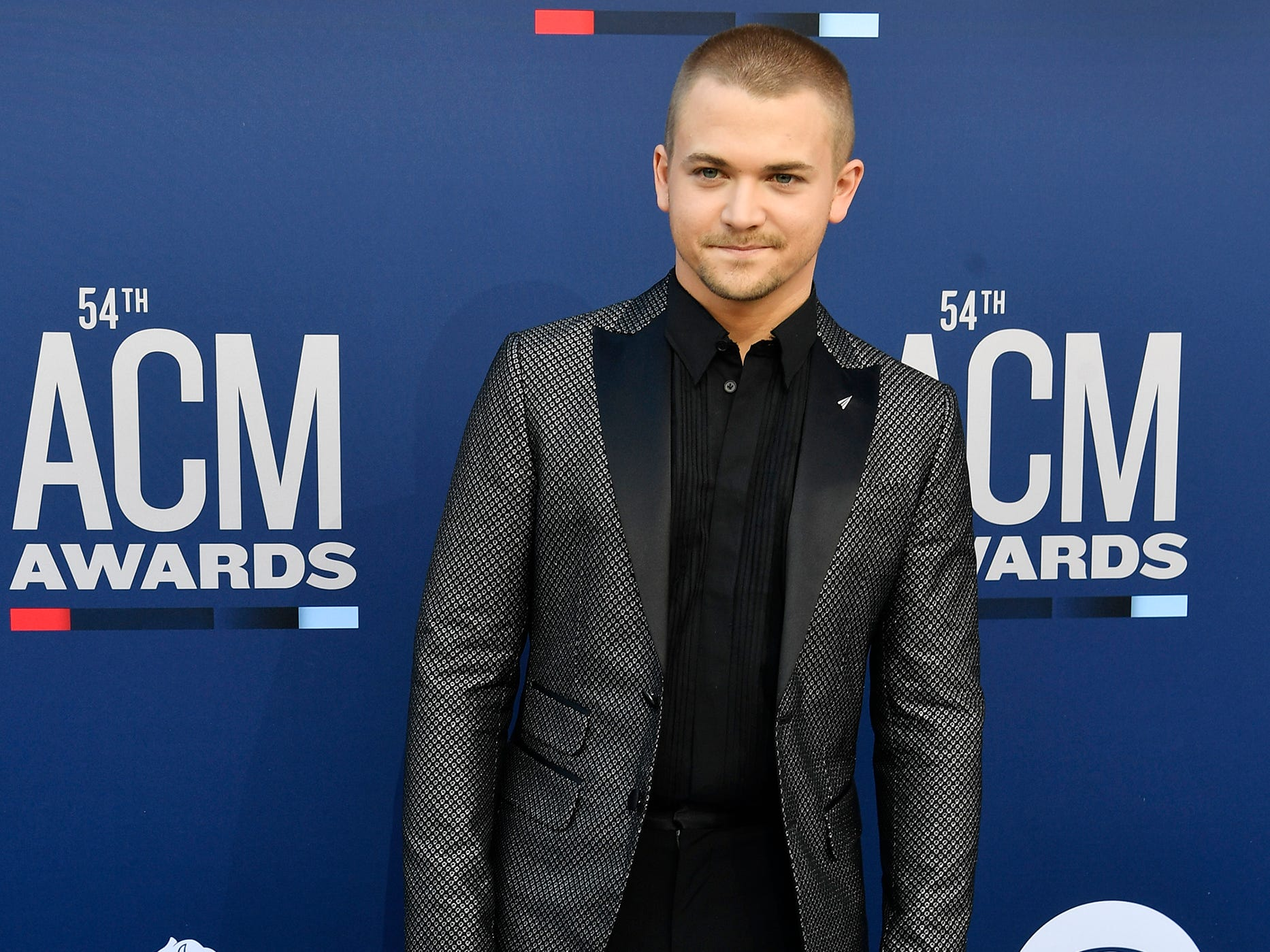 Hunter Hayes walks the red carpet at the 54TH Academy of Country Music Awards Sunday, April 7, 2019, in Las Vegas, Nev.