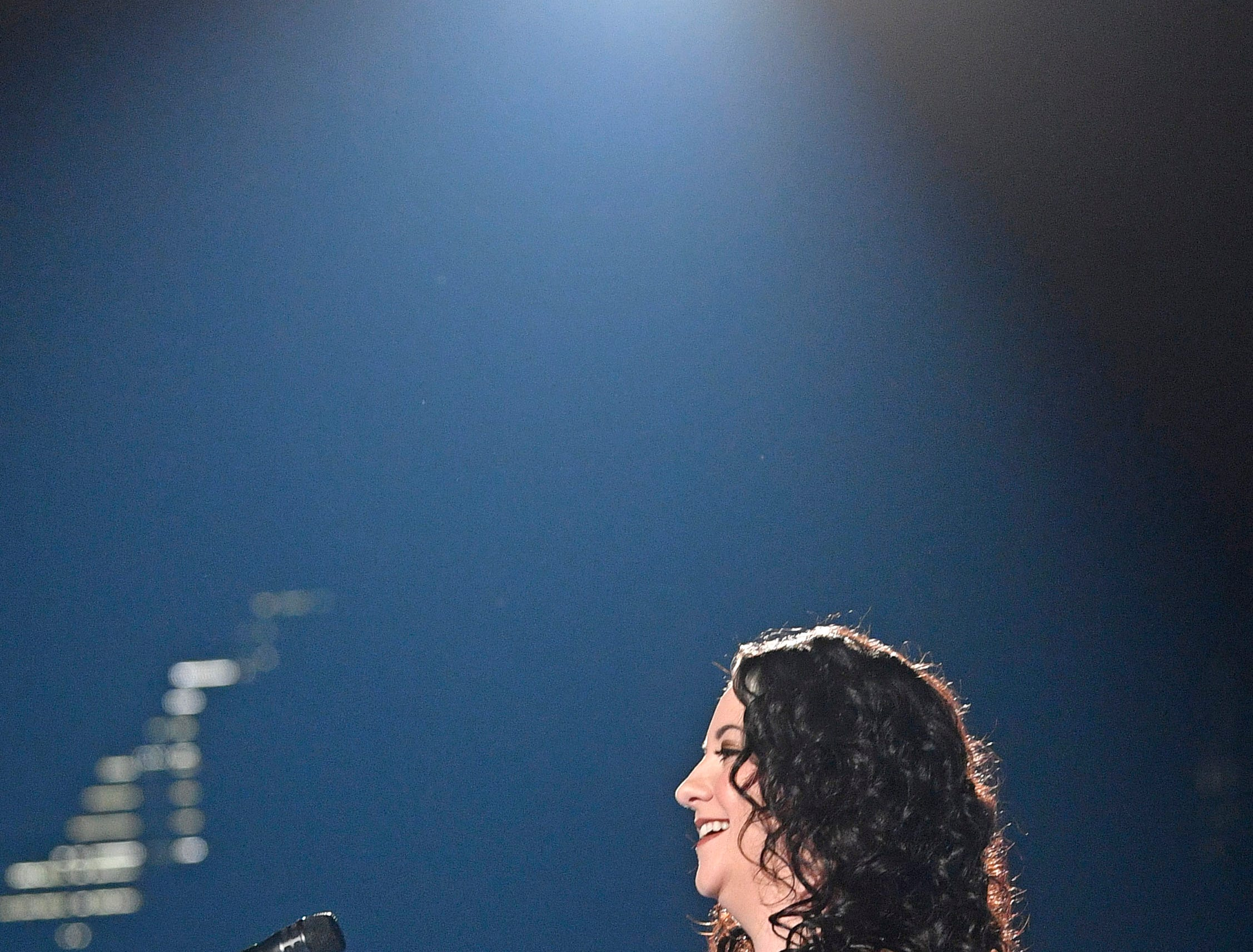 """Ashley McBryde rehearses her song """"Girl Going Nowhere""""  for her performance at the 54TH Academy of Country Music Awards Saturday, April 6, 2019, in Las Vegas, Nev."""