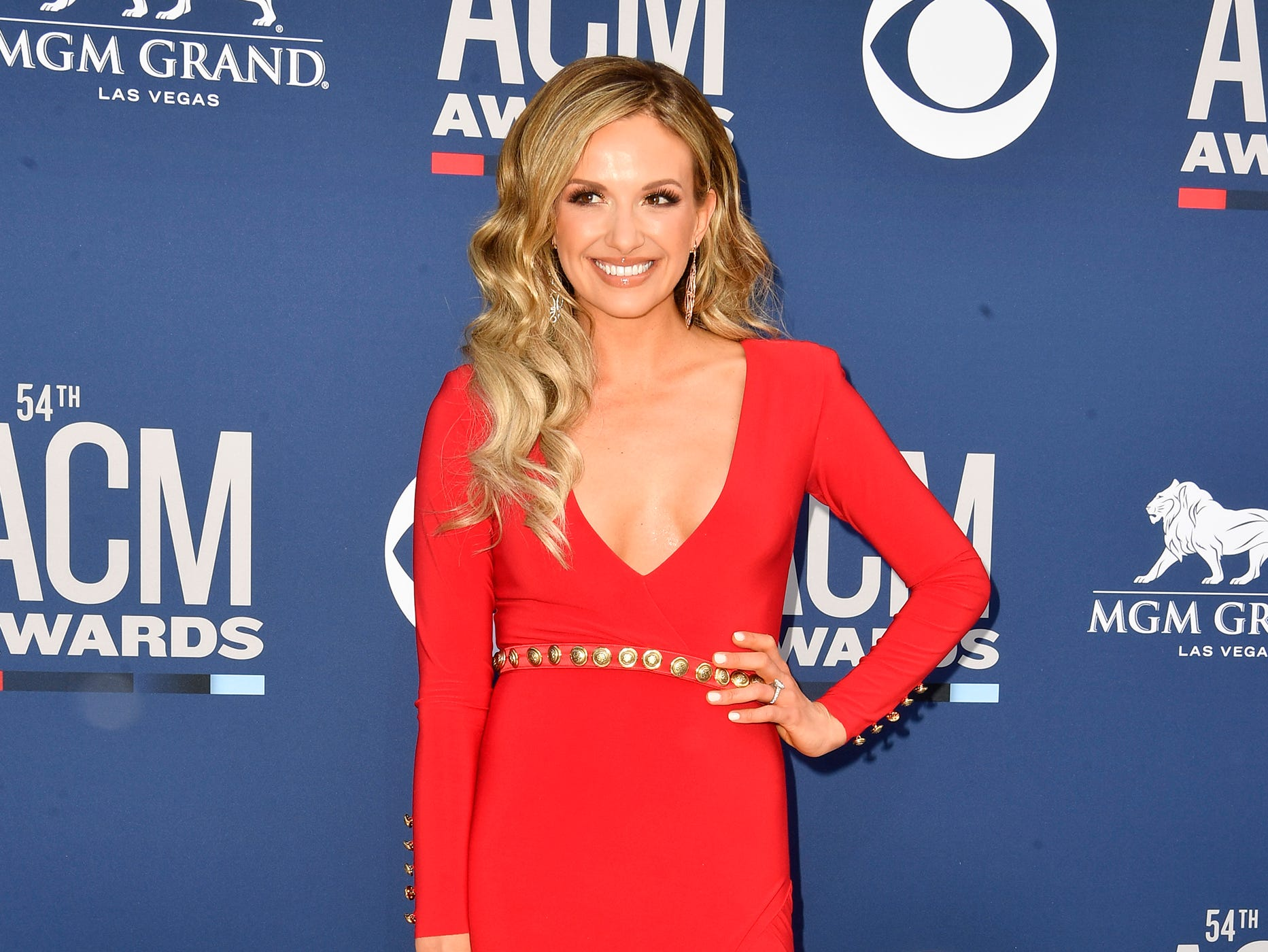 Carly Pearce walks the red carpet at the 54TH Academy of Country Music Awards Sunday, April 7, 2019, in Las Vegas, Nev.