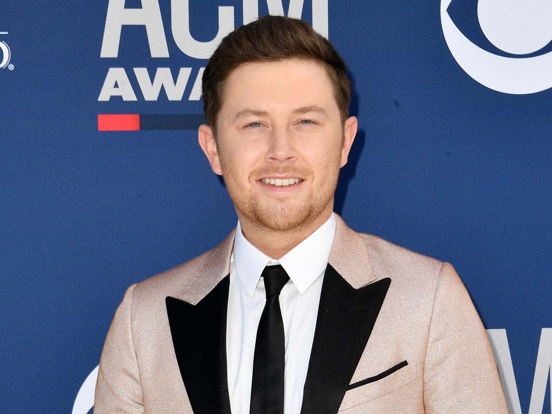 Scotty McCreery walks the red carpet at the 54TH Academy of Country Music Awards Sunday, April 7, 2019, in Las Vegas, Nev.