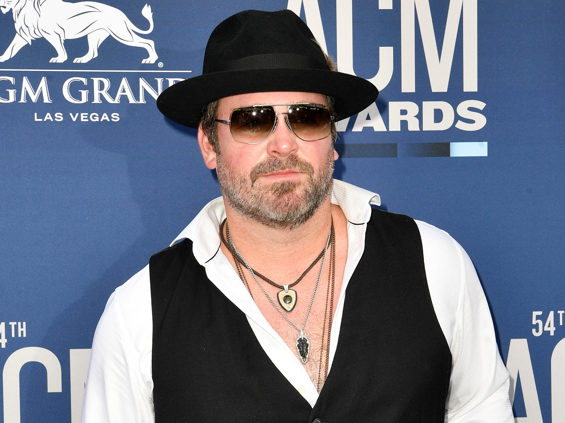 Lee Brice walks the red carpet at the 54TH Academy of Country Music Awards Sunday, April 7, 2019, in Las Vegas, Nev.